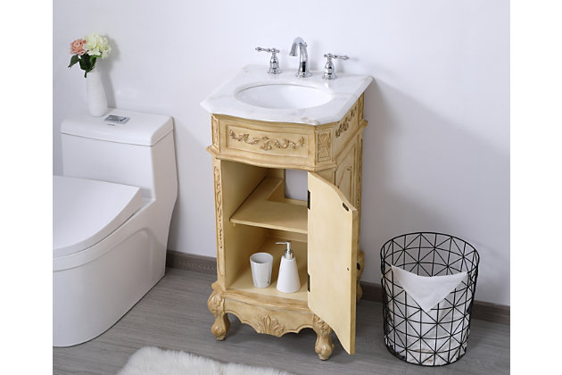 "Danville 19"" Single Bathroom Vanity Set, Antique Beige, large"