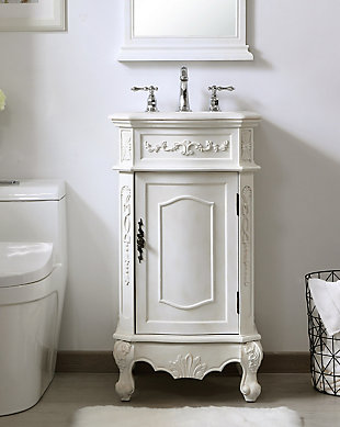 "Danville 19"" Single Bathroom Vanity Set, Antique White, rollover"