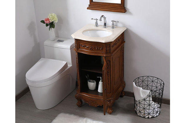 "Danville 19"" Single Bathroom Vanity Set, Teak, large"