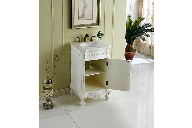 "Danville 21"" Single Bathroom Vanity Set, Antique White, large"