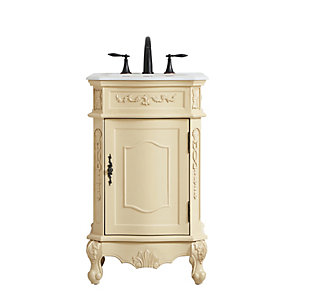 "Danville 21"" Single Bathroom Vanity, Light Antique Beige, large"