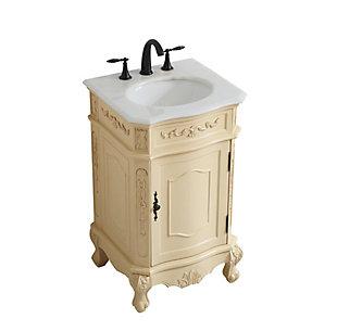 "Danville 21"" Single Bathroom Vanity, Light Antique Beige, large"