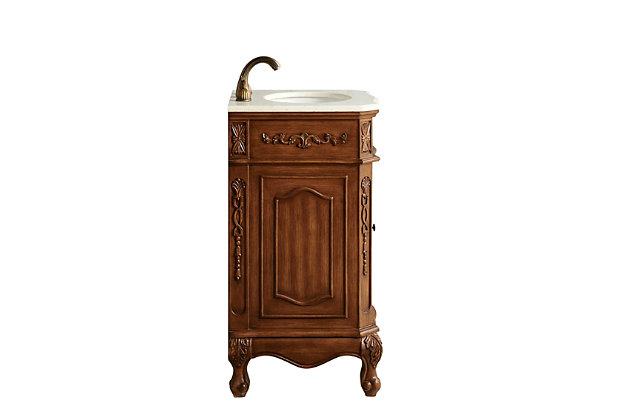 "Danville 21"" Single Bathroom Vanity Set Color, Teak, large"