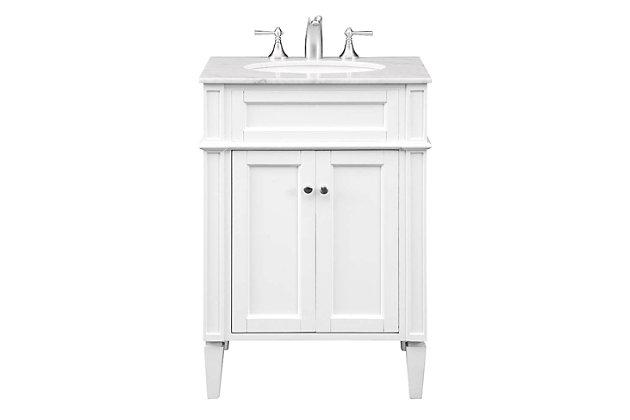 "Park Avenue 24"" Single Bathroom Vanity Set, White, large"
