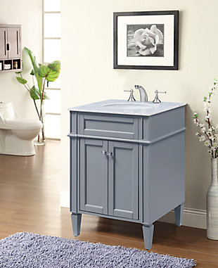 "Park Avenue 24"" Single Bathroom Vanity Set, Gray, rollover"