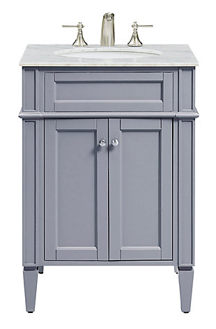 "Park Avenue 24"" Single Bathroom Vanity Set, Gray, large"