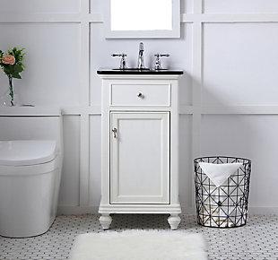 "Otto 19"" Single Bathroom Vanity Set, Antique White, rollover"