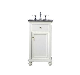 "Otto 19"" Single Bathroom Vanity Set, Antique White, large"