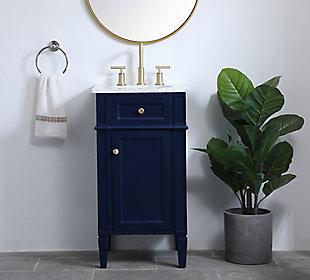 """Otto 18"""" Single Bathroom Vanity, Blue, rollover"""