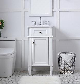 "Otto 18"" Single Bathroom Vanity Set, White, rollover"