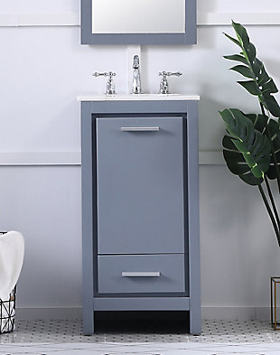 "Filipo 18"" Single Bathroom Vanity Set, Gray, rollover"