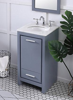 "Filipo 18"" Single Bathroom Vanity Set, Gray, large"
