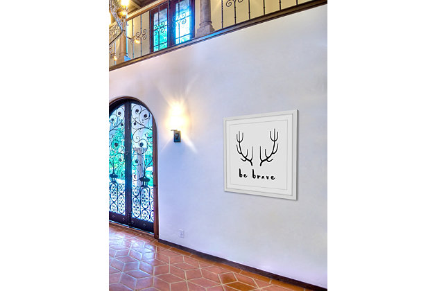Home Accents Brave Antlers Framed Painting Print, , large