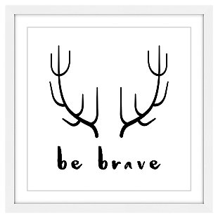 Home Accents Kids Brave Antlers Framed Painting Print, , large