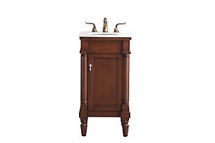 "Lexington 18"" Single Bathroom Vanity Set, Walnut, large"