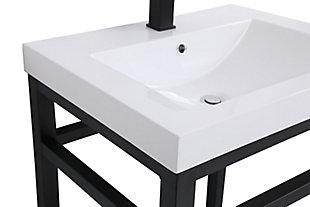 "Raya 24"" Single Bathroom Metal Vanity, Black, large"