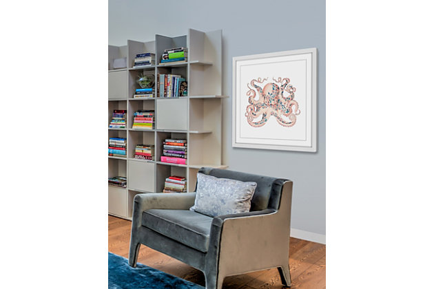 Home Accents Floral Octopus Framed Painting Print, , large