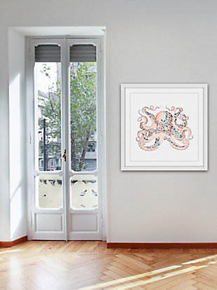 Home Accents Floral Octopus Framed Painting Print, , rollover