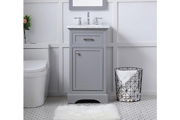 "Americana  19"" Single Bathroom Vanity Set, Light Gray, large"