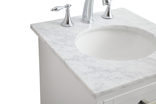 "Americana  19"" Single Bathroom Vanity Set, White, large"