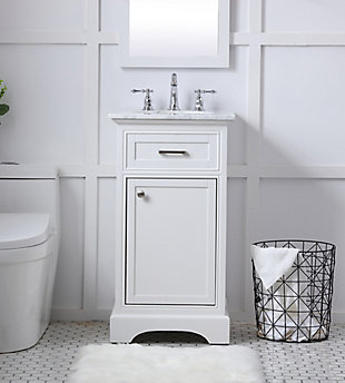 "Americana  19"" Single Bathroom Vanity Set, White, rollover"