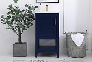 """Aubrey 18"""" Single Bathroom Vanity, Blue, large"""