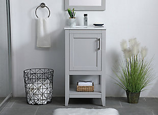 "Aubrey 18"" Single Bathroom Vanity, Gray, rollover"
