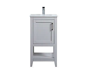 "Aubrey 18"" Single Bathroom Vanity, Gray, large"