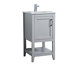 "Aubrey 18"" Single Bathroom Vanity, Gray, large"