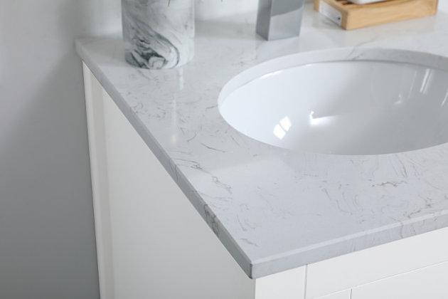 "Aubrey 18"" Single Bathroom Vanity, White, large"