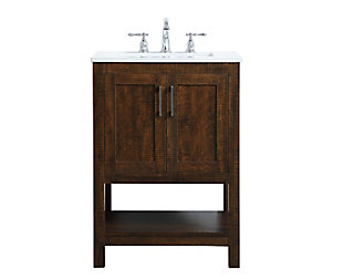 "Aubrey 24"" Single Bathroom Vanity, Espresso, large"