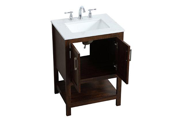 "Aubrey 24"" Single Bathroom Vanity, Espresso, large"