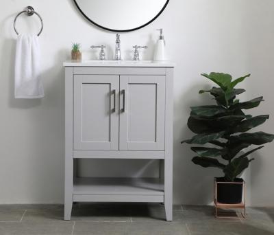 "Aubrey 24"" Single Bathroom Vanity, Gray, large"