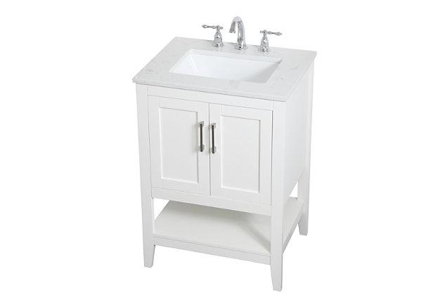 "Aubrey 24"" Single Bathroom Vanity, White, large"