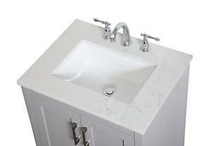 """Moore  24"""" Single Bathroom Vanity, Gray, large"""