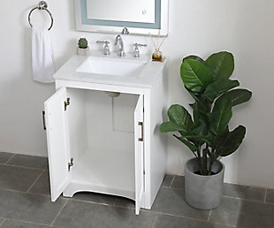 "Moore  24"" Single Bathroom Vanity, White, large"