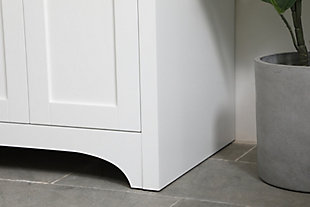 "Moore  24"" Single Bathroom Vanity, White, large"