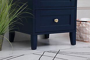 "Sommerville  18"" Single Bathroom Vanity, Blue, large"