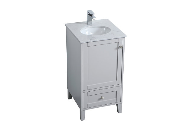 "Sommerville  18"" Single Bathroom Vanity, Gray, large"