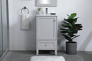 "Sommerville  18"" Single Bathroom Vanity, Gray, rollover"