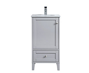 "Sommerville  18"" Single Bathroom Vanity, Gray, large"