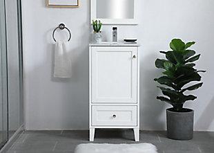 """Sommerville  18"""" Single Bathroom Vanity, White, rollover"""