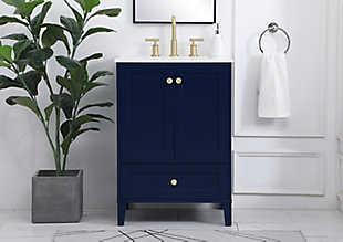 "Sommerville  24"" Single Bathroom Vanity, Blue, rollover"