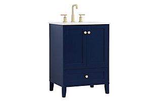 "Sommerville  24"" Single Bathroom Vanity, Blue, large"