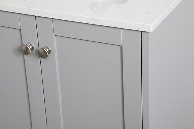 "Sommerville  24"" Single Bathroom Vanity, Gray, large"