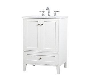 """Sommerville  24"""" Single Bathroom Vanity, White, large"""