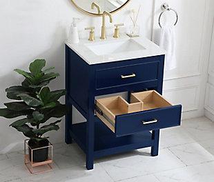 "Sinclaire 24"" Single Bathroom Vanity, Blue, large"