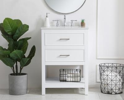 "Sinclaire 24"" Single Bathroom Vanity, White, large"
