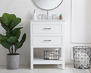 "Sinclaire  24"" Single Bathroom Vanity, White, rollover"