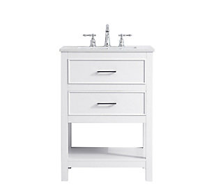 "Sinclaire  24"" Single Bathroom Vanity, White, large"